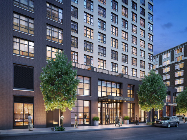 Exterior of Hoyt & Horn, a woman-owned ground up multifamily development in Downtown Brooklyn.